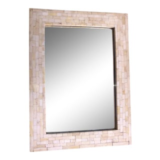 White Bone Handmade Wall Mirror For Sale