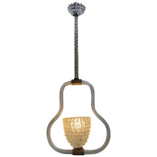 Ercole Barovier & Toso Rostrato Chandelier, Italy, 1940s For Sale