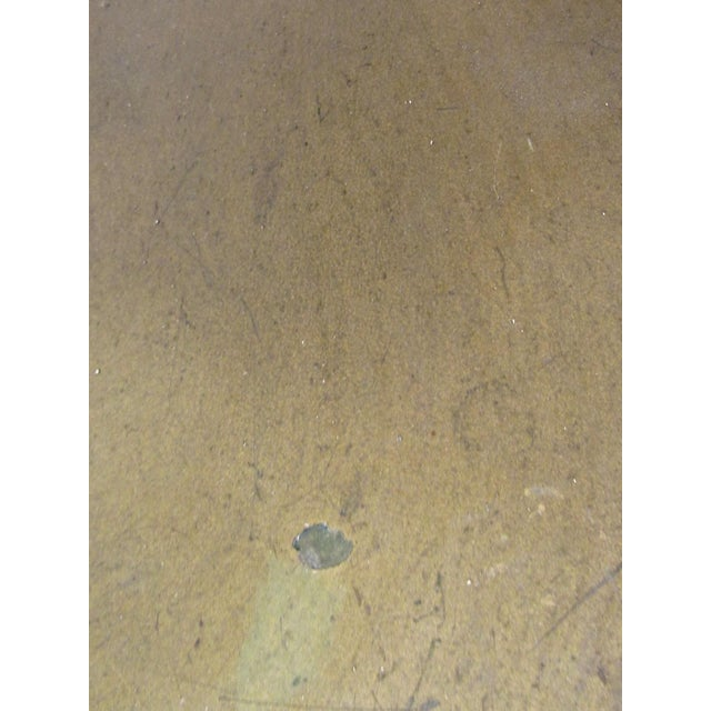 Gold Italian Glass Top Dining Table For Sale - Image 8 of 10