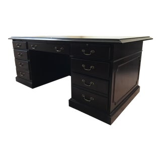 Modern Paoli Brown Executive Desk For Sale