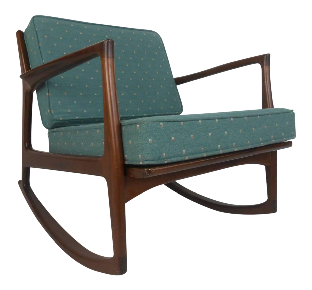 Ib Kofod Larsen For Selig Rocking Chair