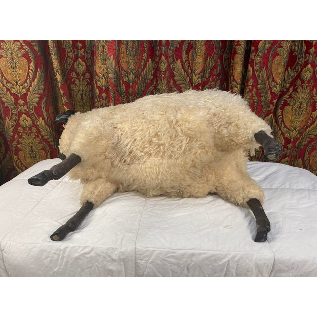 Life Size Vintage Sheep Ottoman in the Style of Lalanne For Sale - Image 10 of 11