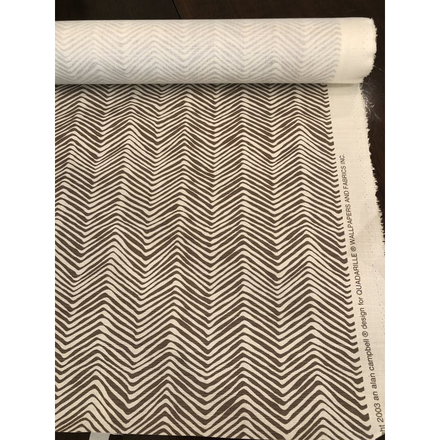Quadrille Alan Campbell Petite Zig Zag 5 Yards, taupe on off white