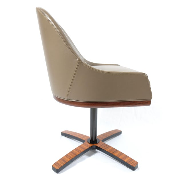 """2010s Medea Mobilidea """"Chic"""" Swivel Chairs Designed by Umberto Asnago- a Pair For Sale - Image 5 of 12"""