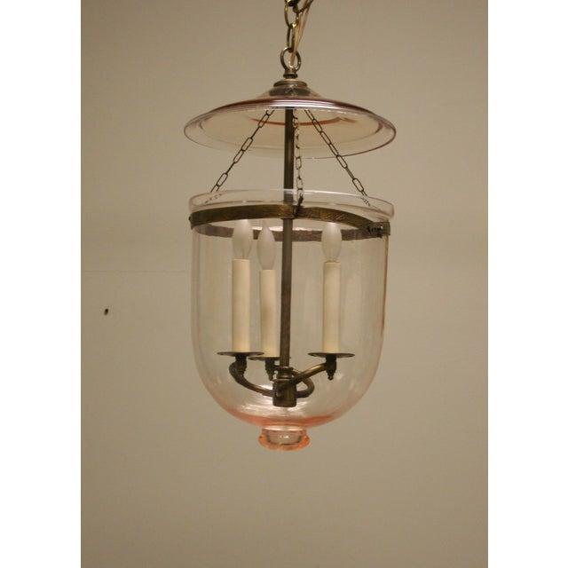 Metal 1950s Vintage Bell-Jar Lantern For Sale - Image 7 of 7
