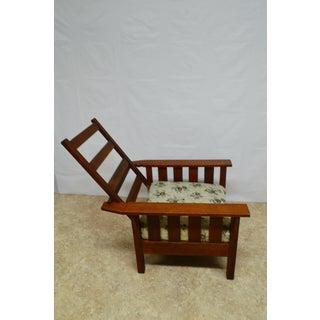 1900s Antique Quartersawn Oak Mission Morris Chair Preview