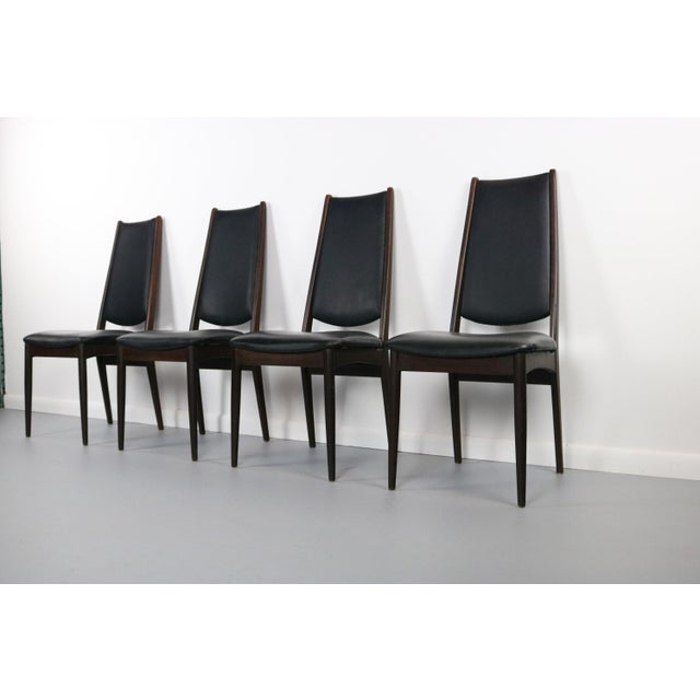 Rosewood Danish Modern Dining Chairs - a Set of 4, Denmark For Sale - Image 4 of 5