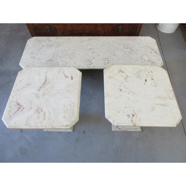 Marble End Tables and Coffee Table - Set of 3 - Image 11 of 11