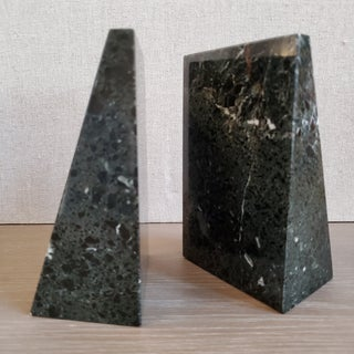 Vintage Geometric Marble Bookends, a Pair Preview