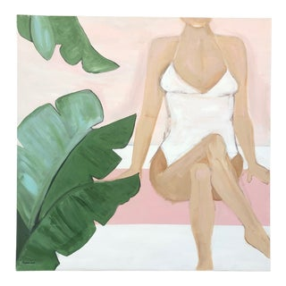 Lauren Jane Beach Babe Contemporary Painting For Sale