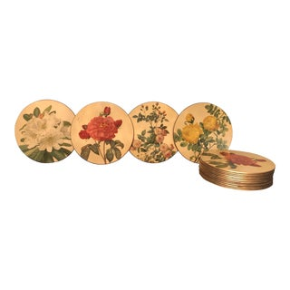 Sewell Products Floral Table Mats - Set of 16 For Sale
