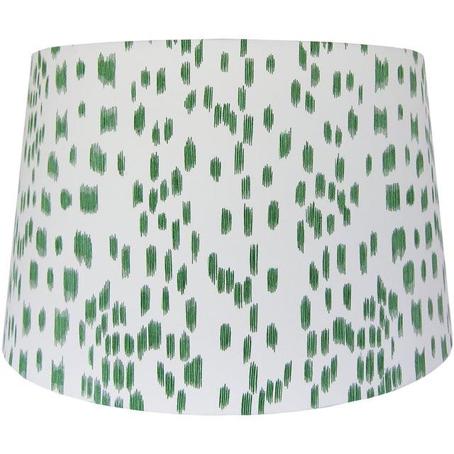 Green animal print lamp shade chairish new handcrafted lamp shade materials designer fabric wire lamp shade rings styrene aloadofball Images