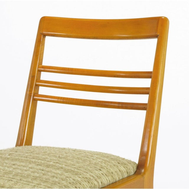 Four Renzo Rutili Walnut & Upholstered Dining Chairs For Sale - Image 10 of 10