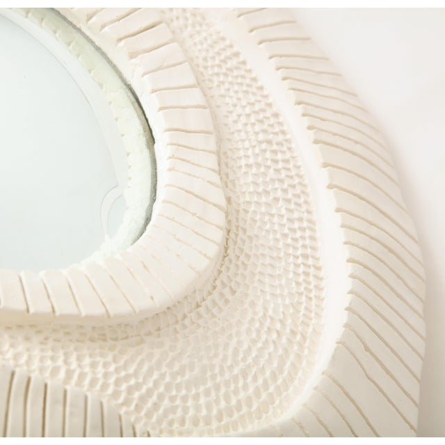 Carved Plaster Mirror For Sale - Image 9 of 10