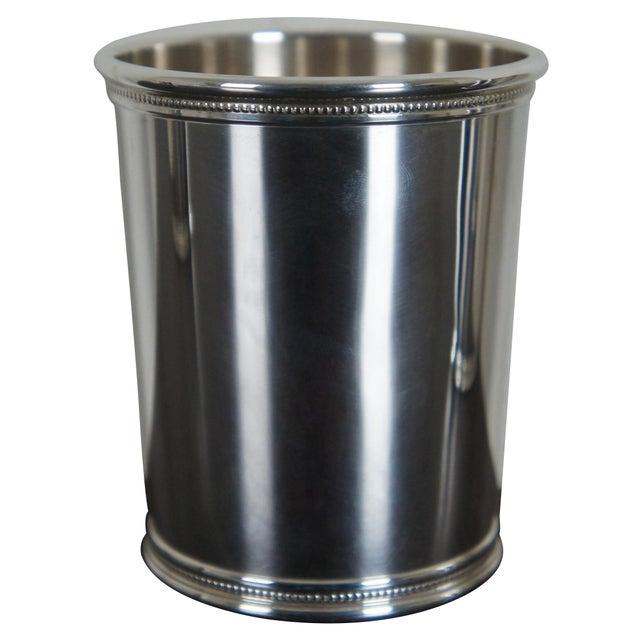 American Sterling Silver Mark J Scearce Presidential Mint Julep Cups Richard Nixon Rmn - Set of 3 For Sale - Image 3 of 13