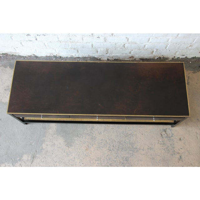 """Animal Skin Paul McCobb for Calvin """"Irwin Collection"""" Double-Sided Leather Top Coffee Table For Sale - Image 7 of 13"""