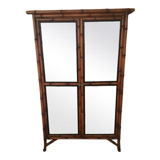 Chinoiserie Faux Bamboo China Cabinet