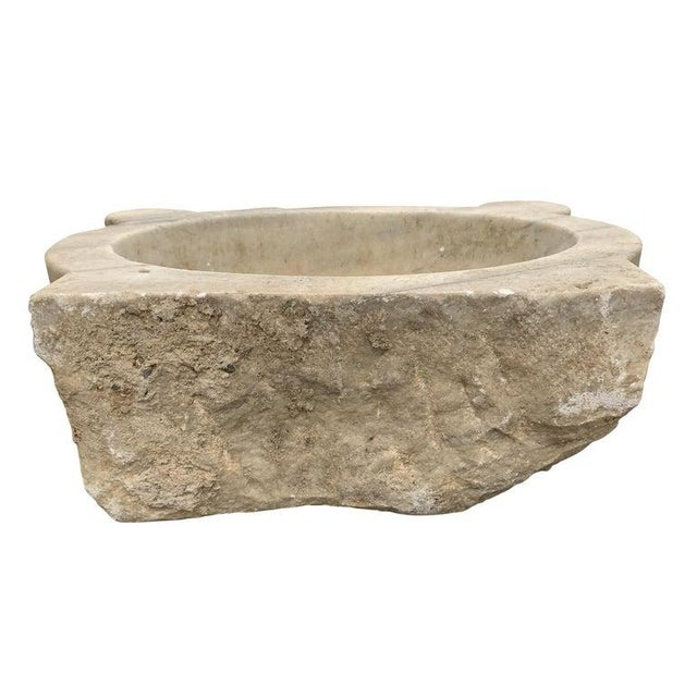 Contemporary 18th Century Turkish Hammam Marble Sink For Sale - Image 3 of 12