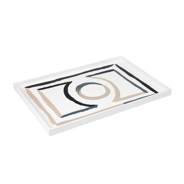 Luke Edward Hall Collection Large Etienne Tray in Bright White For Sale