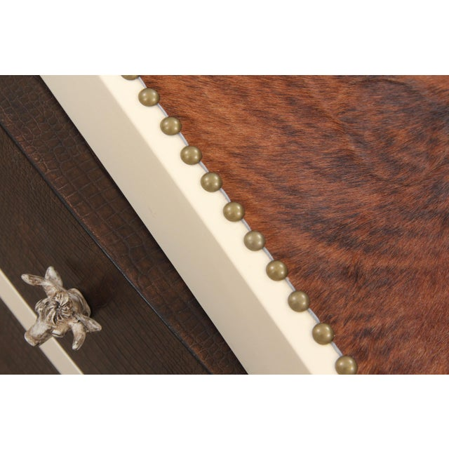 MCM Bernhardt Faux Gator and Cowhide Chest of Drawers For Sale In Tampa - Image 6 of 9
