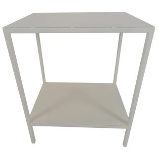 Contemporary Baldwin White Side Table For Sale