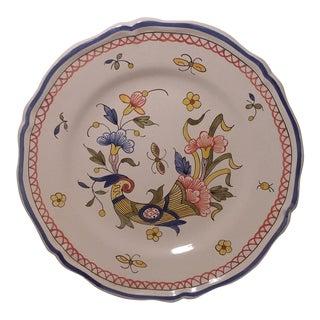 20th Century French Faience Cornucopia Plate