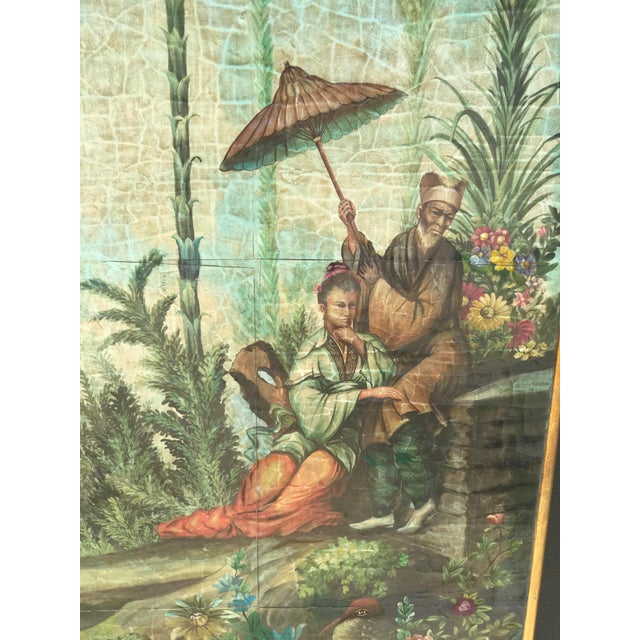 Asian Chinoiserie Decoupaged Wall Hanging For Sale - Image 3 of 13