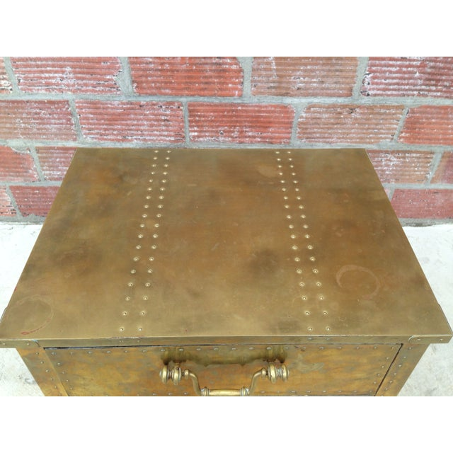 Brass Chest by Sarreid Ltd. For Sale - Image 4 of 7
