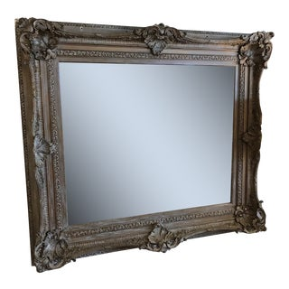 Ornate Carved Wooden Mirror