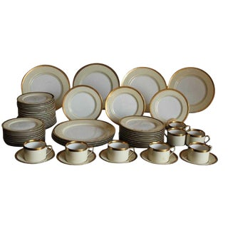 Fitz & Floyd Versailles Crème China C.1982, 48 Pieces For Sale