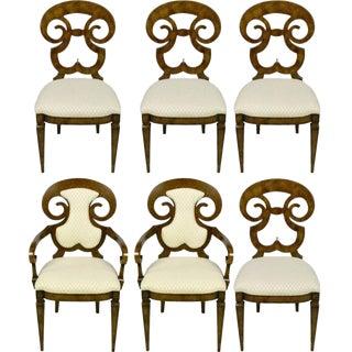 Six William Doezema Biedermeier Dining Chairs for Mastercraft For Sale