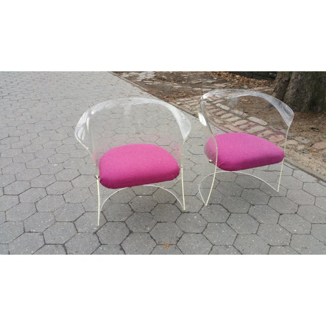 1970's Mid-Century Flexuous Lucite Chairs - A Pair - Image 7 of 9