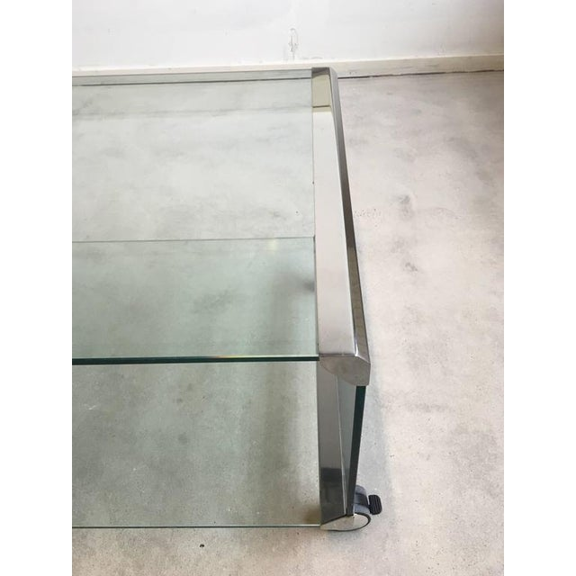 Chrome and Glass Coffee Table, by Pierangelo Galotti for Galotti & Radice, 1975 - Image 5 of 7