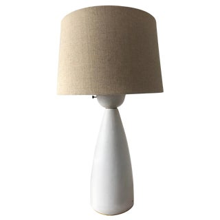 1950s Beige Ceramic Lamp by Martz For Sale