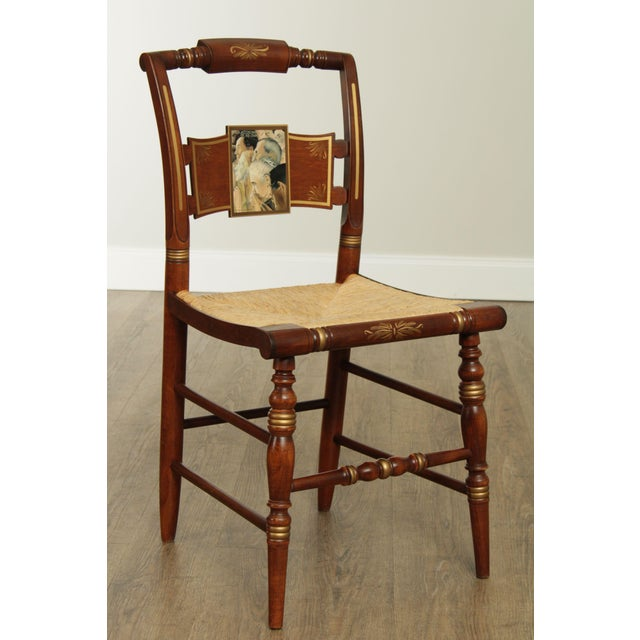 High Quality American Made Vintage Cherry Finished Maple Side Chair with Rush Seat #33 of 2000 Store Item#: 26934