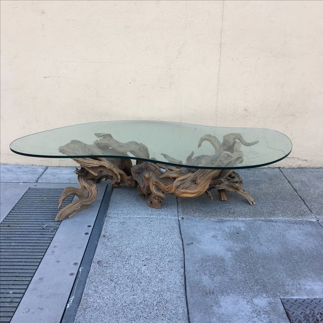 Driftwood Base Coffee Table - Image 2 of 10
