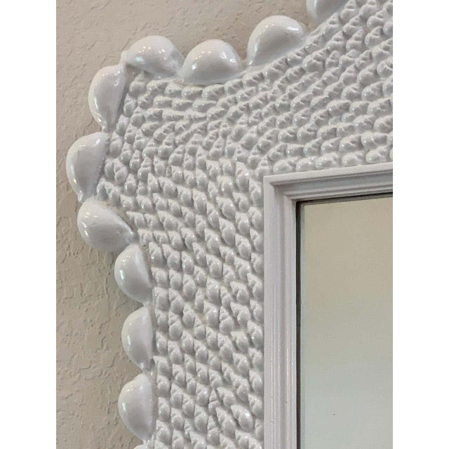 Mid 20th Century Mid Century Serge Roche Style Shell Encrusted Mirror For Sale - Image 5 of 8