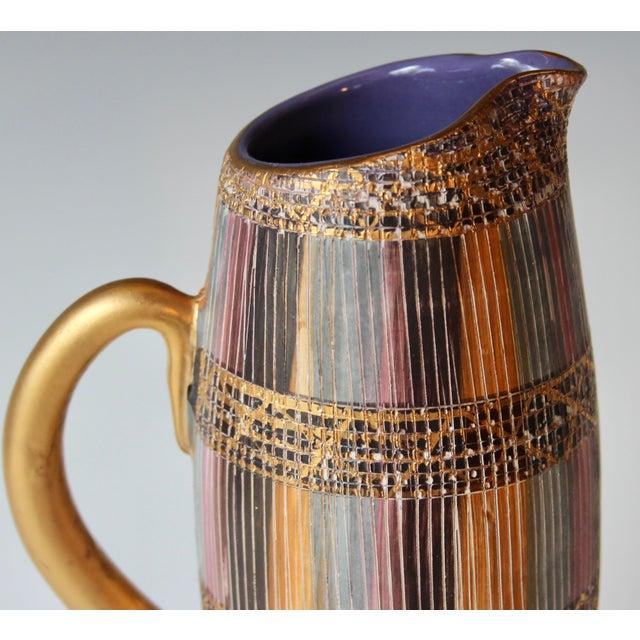 Pink Mid Century Bitossi Raymor Seta Italian Pottery Londi Pitcher For Sale - Image 8 of 13