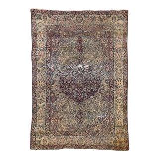 Distressed Antique Kermanshah Persian Rug - 04'02 X 06'00 For Sale