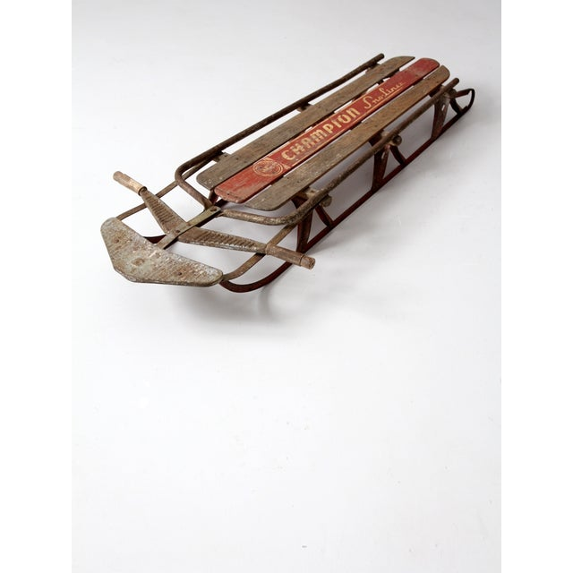 1950s Champion Sno-Liner Sled For Sale - Image 6 of 9