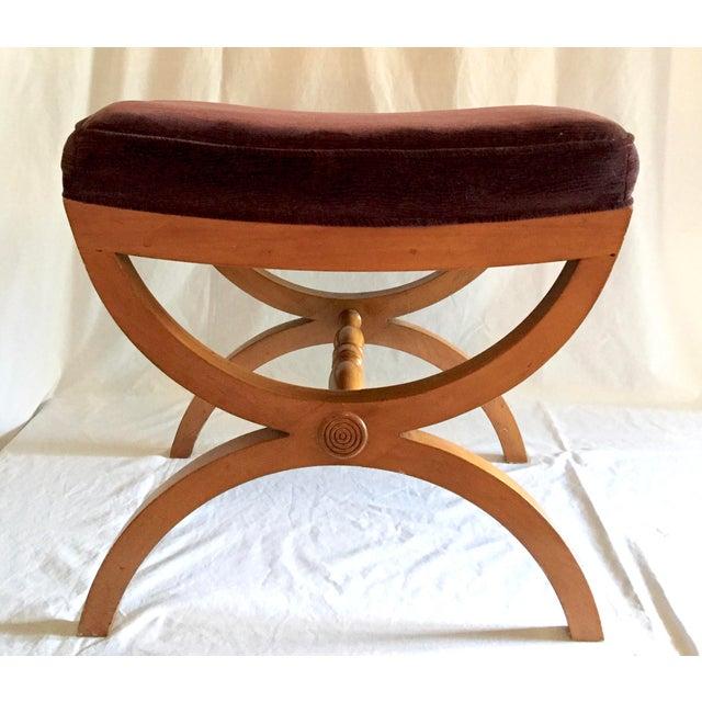 Vintage Oak Vanity Seat - Image 5 of 5
