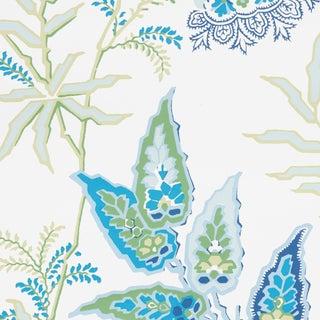 Schumacher Emperor's Vine Wallpaper in Peacock For Sale