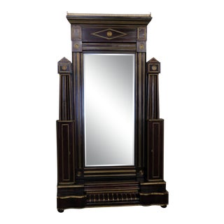 Early 20th Century Antique Russian Cheval Mirror For Sale