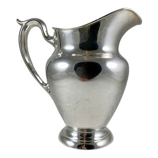 Gorham Sterling Silver Large Water Pitcher, Dated 1948 For Sale