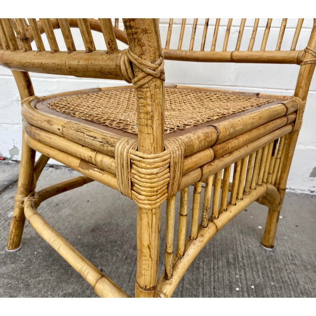 Vintage Rattan Fan Back Chairs- Set of 8 For Sale - Image 12 of 13