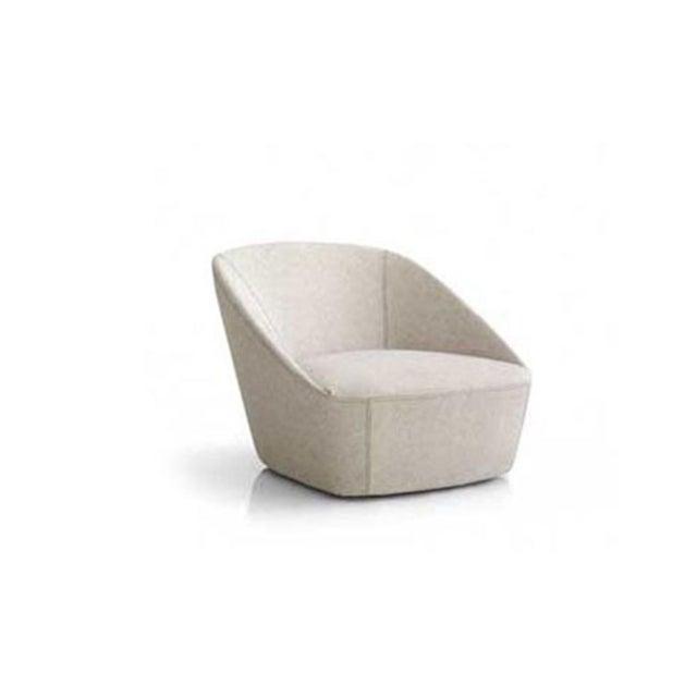 2010s Sphaus Grey Bucket Armchair in Fabric Minimalist Design For Sale - Image 5 of 5