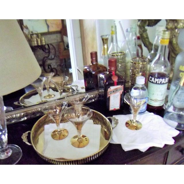 Dorothy Thorpe Cocktail Glasses W/ Gold Flecks - 4 - Image 10 of 10