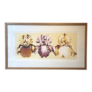 1980s Framed Orchid Flower Print For Sale