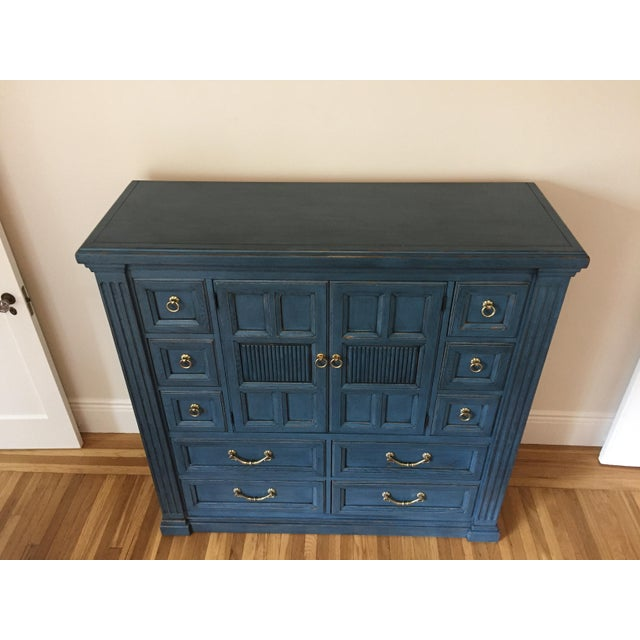 Drexel Heritage Blue Armoire - Image 7 of 11