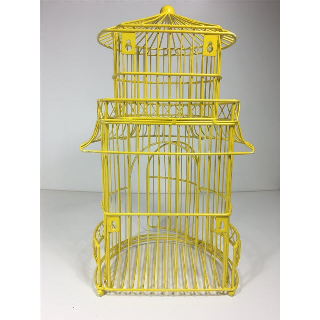 Canary Yellow Chinoiserie Birdcage - Image 5 of 7